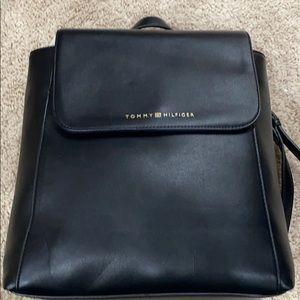 Black Leather Tommy Hilfiger Backpack BRAND NEW